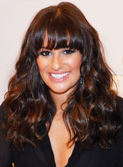 styles for thick long hair hairstyles for thick hair with highlights riot 4756 | file 3375 lea michele long bangs highlights wavy thick chic brunette