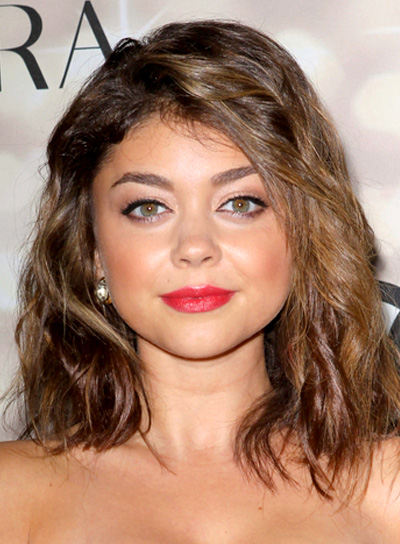 haircuts for medium wavy hair medium wavy funky hairstyles riot 2561 | file 3951 sarah hyland funky medium brunette wavy hairstyle