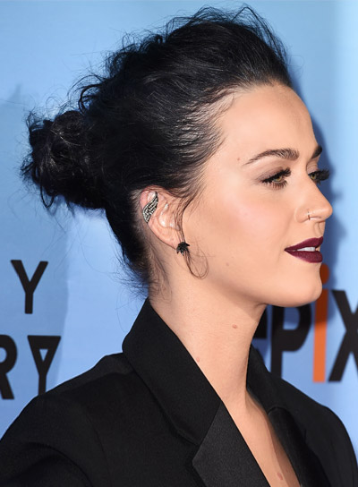 Long black updos beauty riot katy perry with a long black formal updo hairstyle pictures pmusecretfo Images
