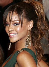 Rihanna Style Evolution High Ponytail