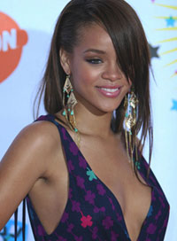 Rihanna Style Evolution Sideswept Hairstyle