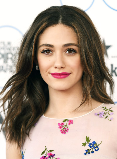 hair style with bow file 5278 emmy rossum medium wavy 5278