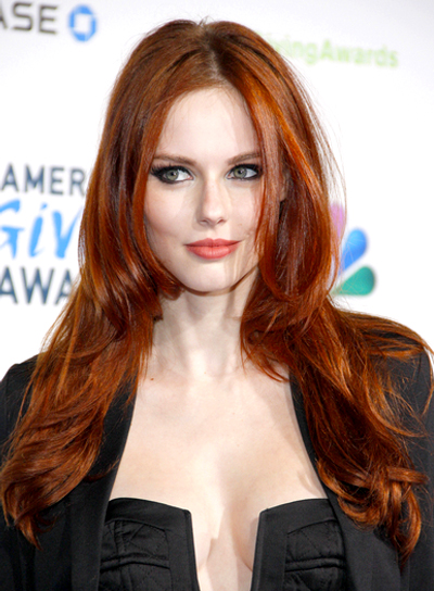Sexy Hairstyles sexy long haircut with roughed up curls Alyssa Campanellas Long Red Tousled Sexy Hairstyle