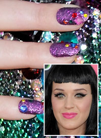 Katy Perry Bright Nails