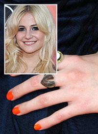 Pixie Lott Bright Nails