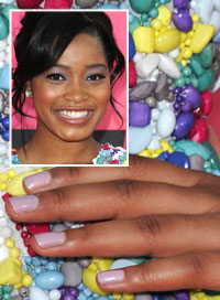 Keke Palmer Bright Nails