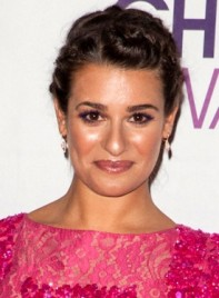 file_59143_lea-michele-chic-brunette-updo-hairstyle-braids-and-twists-275