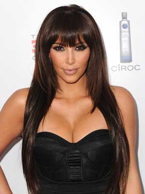 layered hairstyle kim kardashian