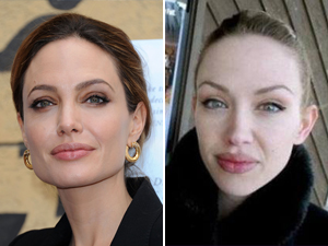 celebrity doppelganger angelina jolie