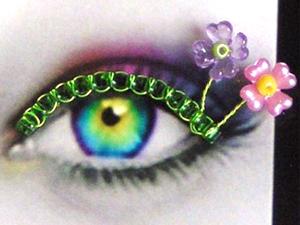beaded eyelashes