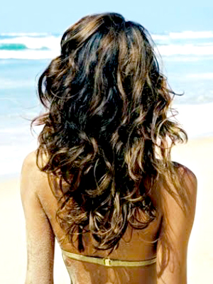 curly beach hair