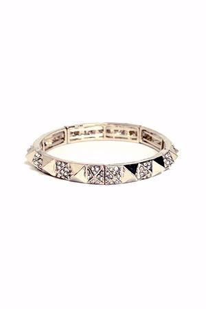 rhinestone pyramid bracelet