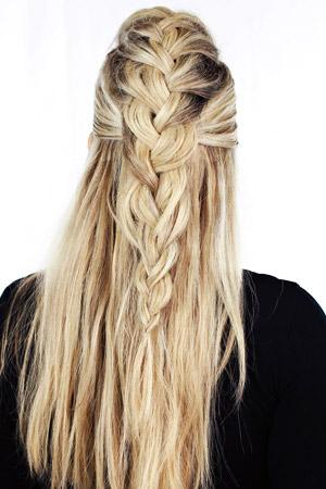 Easy summer hairstyles braids half up faux hawk solutioingenieria Choice Image