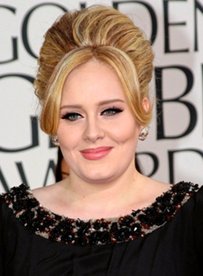 Adele's Formal, Blonde, Chic, Updo Hairstyle