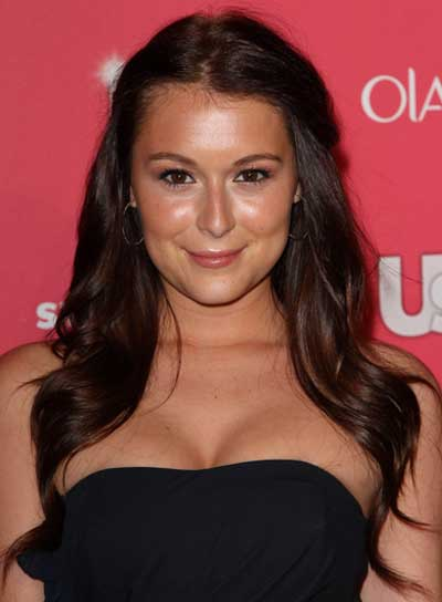 Alexa Vega Long, Curly, Chic, Brunette, Prom Hairstyle With Braids and Twists
