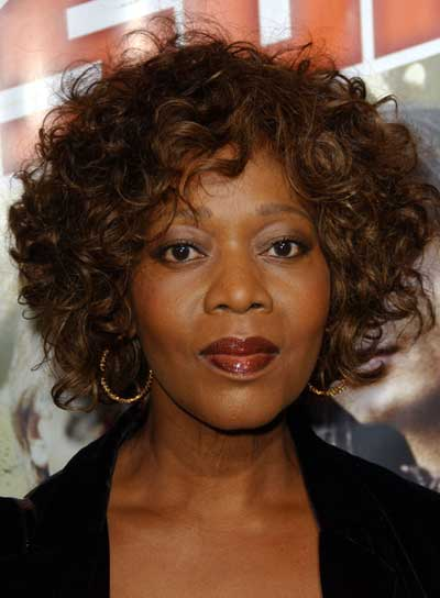 Alfre Woodard Short, Curly, Brunette Hairstyle
