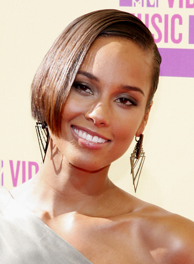 alicia key hair style hairstyles riot 5294 | alicia keys short chic straight brunette hairstyle