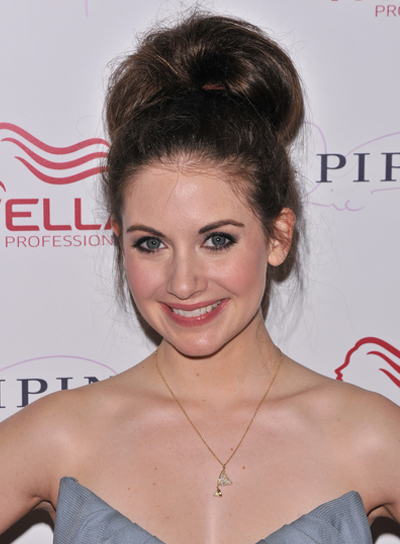Alison Brie Funky, Sophisticated, Edgy, Party, Brunette Updo