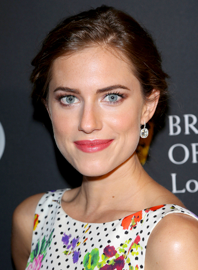 Allison Williams' Wavy, Brunette, Sophisticated, Updo Hairstyle