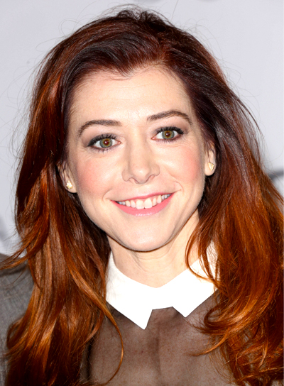Alyson Hannigan's Long, Red, Tousled, Party Hairstyle