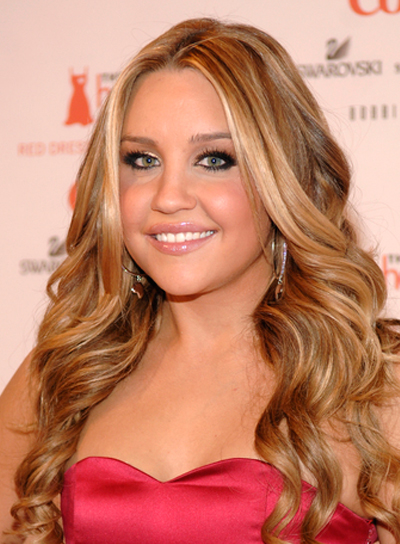 Amanda Bynes Long, Curly, Blonde Hairstyle with Highlights