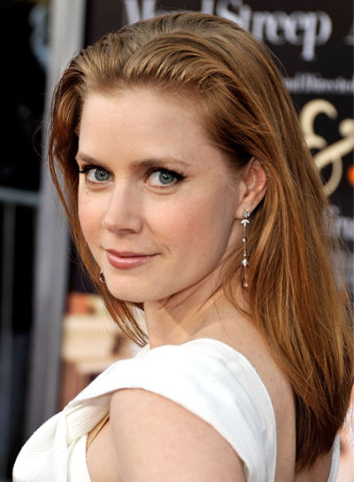 Amy Adams Medium, Straight, Red Hairstyle