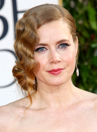 Amy Adams' Romantic, Formal, Wavy, Updo Hairstyle