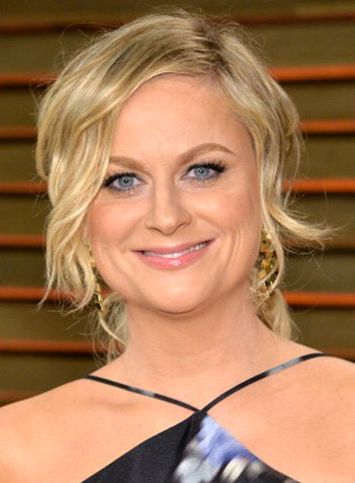 Amy Poehler with a Blonde, Tousled, Wavy, Party Hairstyle Pictures