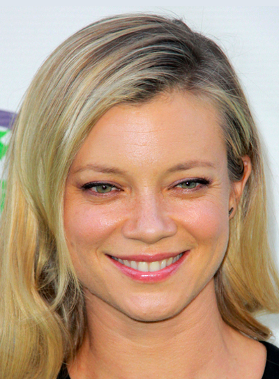 Amy Smart's Medium, Blonde, Wavy, Sophisticated Hairstyle