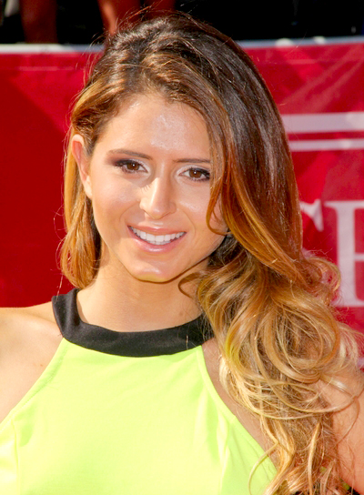 Anastasia Ashley's Long, Brunette, Tousled, Romantic Hairstyle