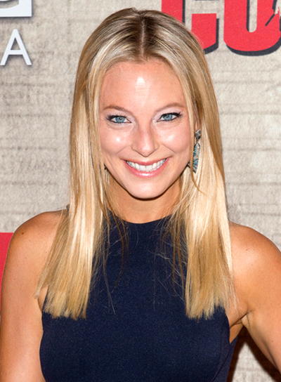 Anastasia Griffith's Medium, Straight, Blonde, Chic Hairstyle