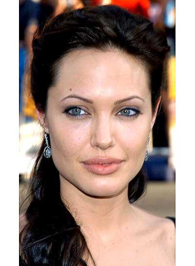 Angelina Jolie Romantic Half Updo