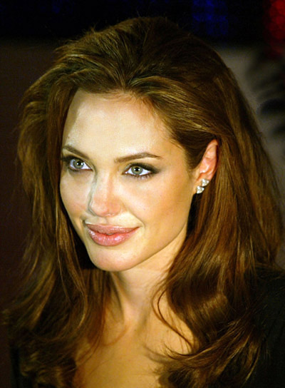Angelina Jolie Wavy Long Hairstyle