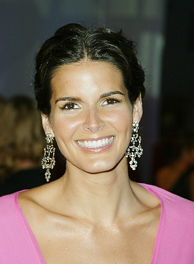 Angie Harmon Curly, Long, Romantic Updo