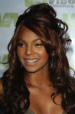 Ashanti Long, Curly Half Updo