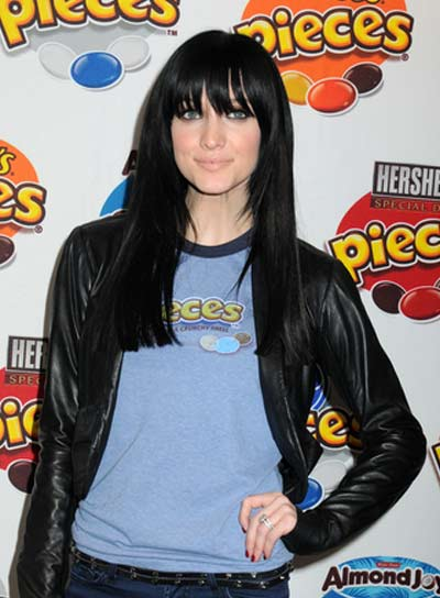 Ashlee Simpson Long, Straight Hairstyle with Bangs