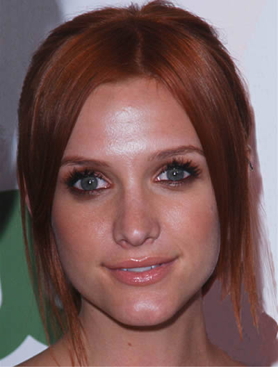 Ashlee Simpson Red, Straight Updo