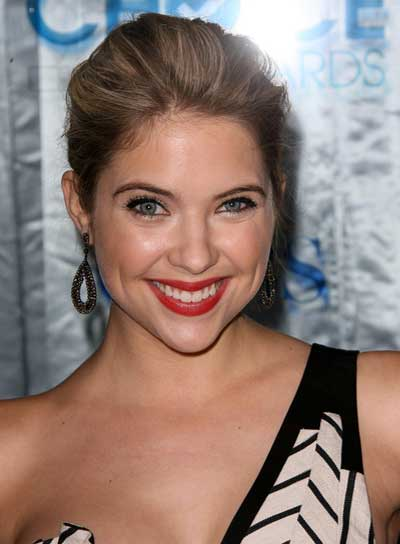 Ashley Benson Romantic, Blonde Updo