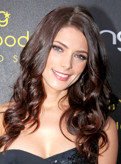 Ashley Greene's Long, Wavy, Party, Brunette Hairstyle
