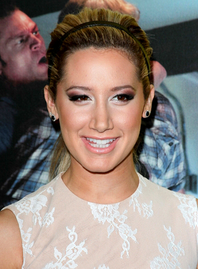 Ashley Tisdale's Chic, Long, Updo, Ponytail Hairstyle