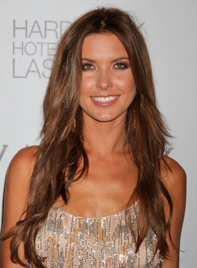 Audrina Patridge Long, Layered, Brunette Hairstyle