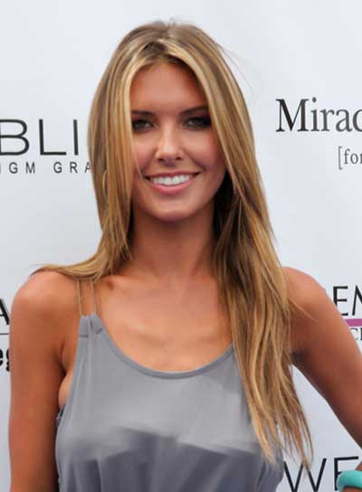 Audrina Patridge Long, Blonde, Straight Hairstyle