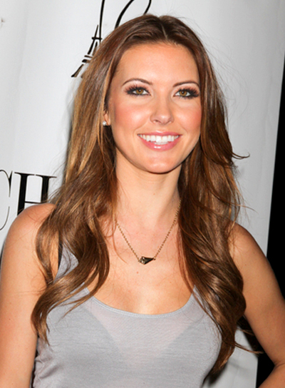 Audrina Patridge's Long, Tousled, Wavy, Party Hairstyle