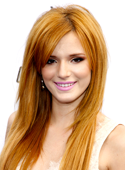 Bella Thorne's Long, Red, Straight, Layered Hairstyle