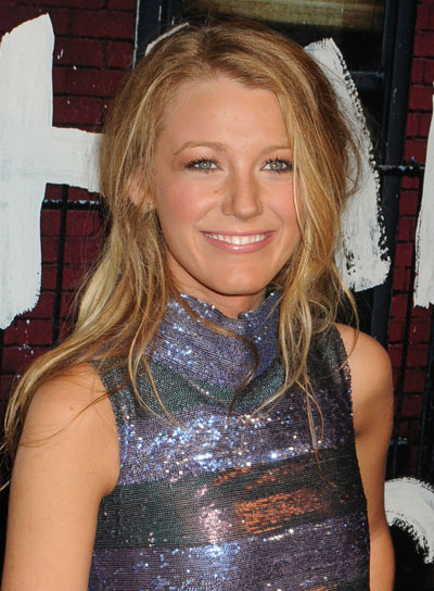 Blake Lively Long, Tousled, Blonde Hairstyle