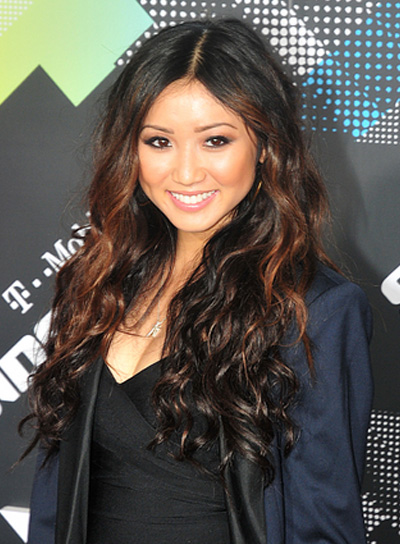 Brenda Song Long, Wavy, Chic Hairstyle with Highlights
