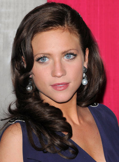 Brittany Snow Romantic, Brunette, Wavy Hairstyle