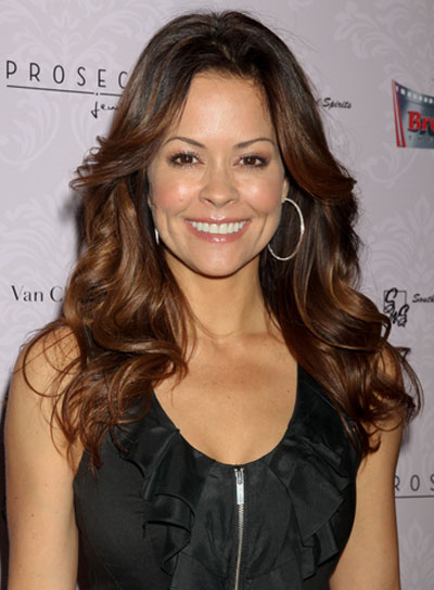 Brooke Burke Long, Tousled, Brunette Hairstyle