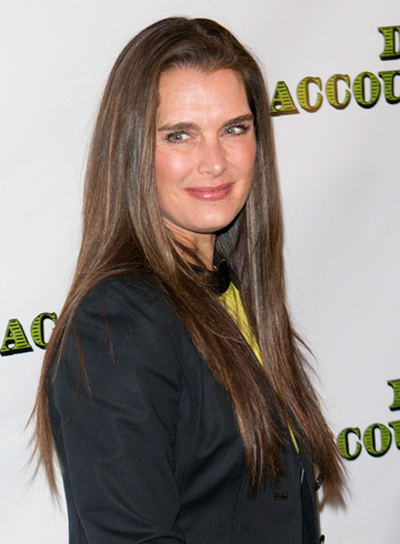 Brooke Shields' Long, Straight, Sophisticated, Brunette, Hairstyle