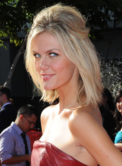 Brooklyn Decker Medium Straight, Half-Updo Hairstyle